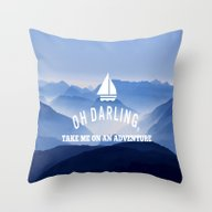 Oh Darling, Lets Go On A… Throw Pillow