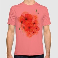 Tall Poppies Mens Fitted Tee Pomegranate SMALL
