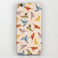 Vintage Wallpaper Birds iPhone & iPod Skin