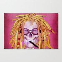 Jamaican Skull Canvas Print