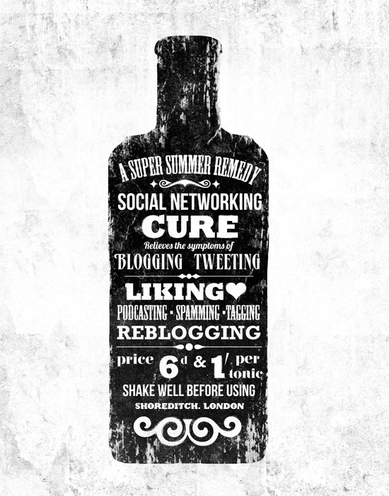 The Social Remedy  - Tonic Art Print
