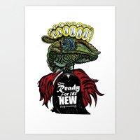 Annunaki Reptilian Reina  Art Print