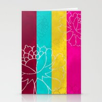 Chinese Flowers & Stripe… Stationery Cards