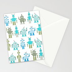 8bit robots Stationery Cards