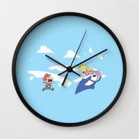 Mario's Adventure Time Wall Clock