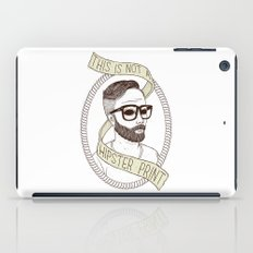 This Is Not A Hipster Print iPad Case
