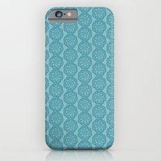 Floral mix blue lace iPhone 6 Slim Case