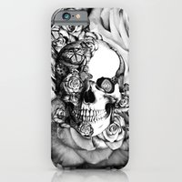 Butterfly rose skull with ladybugs. Good luck iPhone 6 Slim Case
