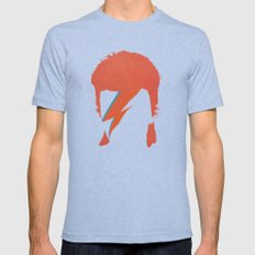 Ziggy Stardust Mens Fitted Tee Tri-Blue SMALL