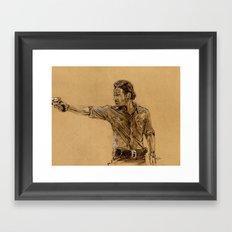 The Walking Dead-Rick Framed Art Print