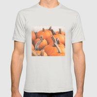 Pumpkin Season. Mens Fitted Tee Silver SMALL