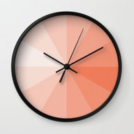 Wall Clock featuring Coral by Ktparkinson