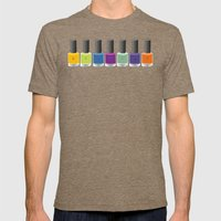 Colour happy Mens Fitted Tee Tri-Coffee SMALL