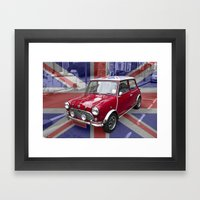British Classic Mini Car Framed Art Print