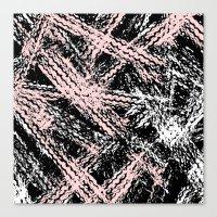 Desert Tracks Pink Canvas Print