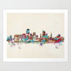 Miami Florida skyline Art Print