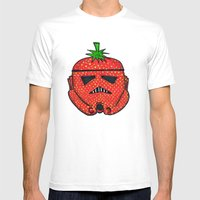 Strawberry Stormptrooper Mens Fitted Tee White SMALL