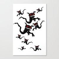 Flying Ghosties Canvas Print