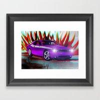 Plum Crazy Challenger Framed Art Print