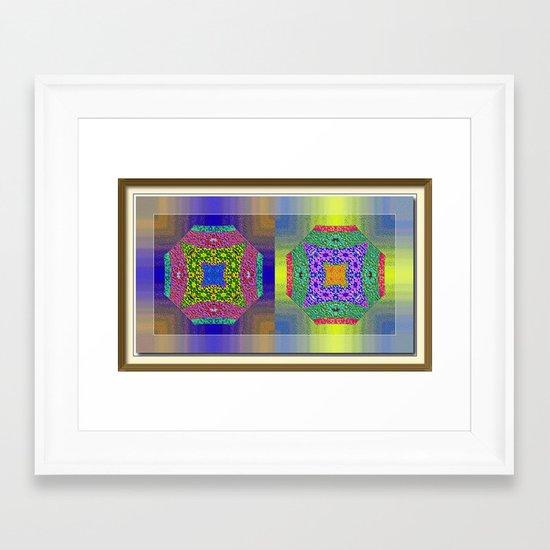 Twin Mandalas II Framed Art Print