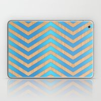 Turquoise Chevron Laptop & iPad Skin