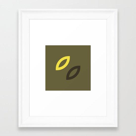 #83 Leaves – Geometry Daily Framed Art Print