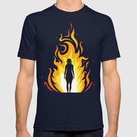 Mother of dragons Mens Fitted Tee Navy SMALL