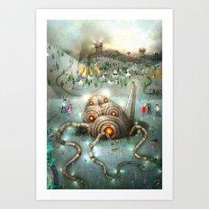 War of the worlds Art Print