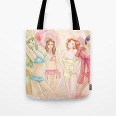 Lingerie Girls Tote Bag