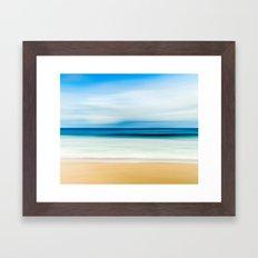 Beautiful Beach View Framed Art Print
