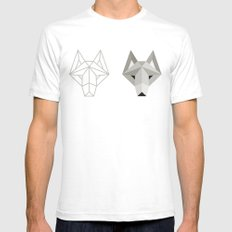 Wolfborg White Mens Fitted Tee SMALL