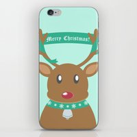 Christmas Reindeer iPhone & iPod Skin