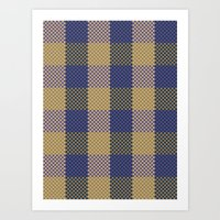 Pixel Plaid - Spring Thaw Art Print