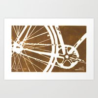 Brown Bike Art Print