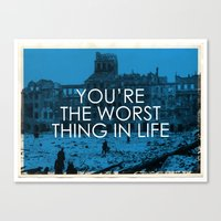 The Worst Canvas Print