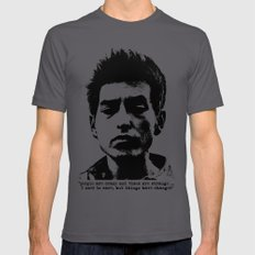 Bob Dylan Things Have Ch… Mens Fitted Tee Asphalt SMALL