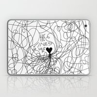 The Lines Of Love - Whit… Laptop & iPad Skin