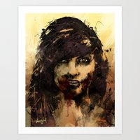 Female Zombie Art Print
