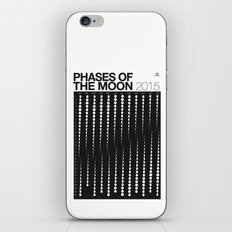 2015 Phases of the Moon Calendar iPhone & iPod Skin