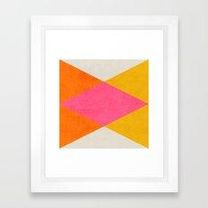 summer triangles Framed Art Print