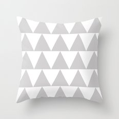 Grey Triangle /// www.pencilmeinstationery.com Throw Pillow