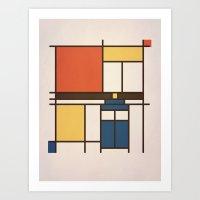 Mondrian Who Art Print