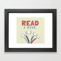 Read A Book. Framed Art Print