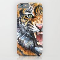 Tiger Watercolor Painting iPhone 6 Slim Case