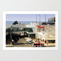 Shop By The Bay Art Print