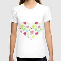 spring flowers Womens Fitted Tee White SMALL