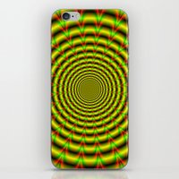 Pulse in Red Yellow and Green iPhone & iPod Skin