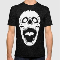Say AAAH! Mens Fitted Tee Tri-Black SMALL