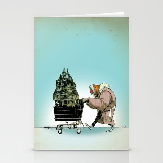 "Glue Network Print Series ""Homelessness"" Stationery Card"