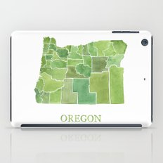 Oregon Counties watercolor map iPad Case